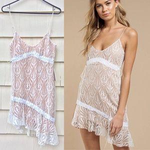 New For Love & Lemons Bright Lights Mini Dress